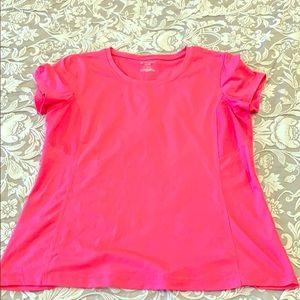 Tek Gear DryTek Bright Neon Pink T Shirt XL